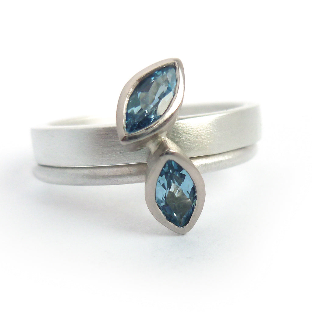 Bespoke, unique, contemporary, handmade silver and gold ring - engagement, wedding.