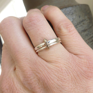 Silver and 18ct gold ring - contemporary, unique and bespoke