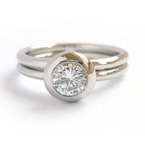 Stunning big diamond contemporary platinum engagement ring. Commission, bespoke.