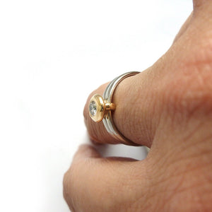 18ct Gold and Diamond Ring  - Contemporary, unique, bespoke & handmade