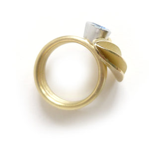 bespoke gold and platinum bold dress ring