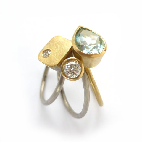 COMING SOON: Unique aquamarine and diamond ring (OF69)