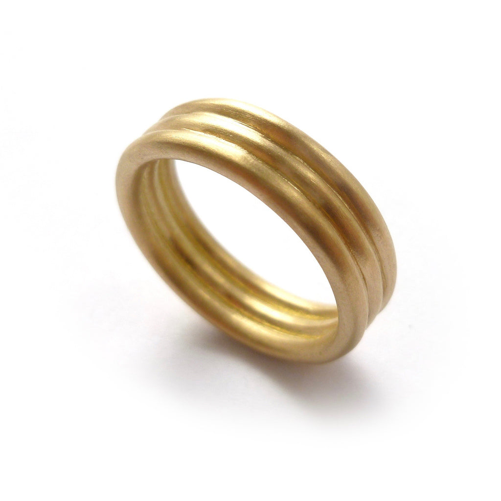Modern alternative matt wedding ring for men or women. Contemporary unique bespoke handmade and modern.