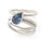 Contemporary three band platinum ring. Multi band ring or interlocking ring, sometimes called triple band rings too.