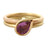 18ct Rose Yellow Gold Pink Sapphire Ring Contemporary Bespoke Unique Jewellery