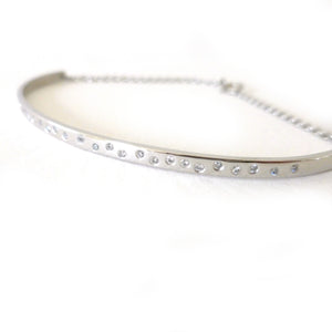 platinum and diamond eternity bracelet