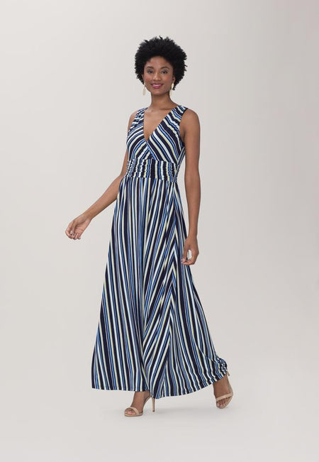 Athena Maxi in Poolside Stripe