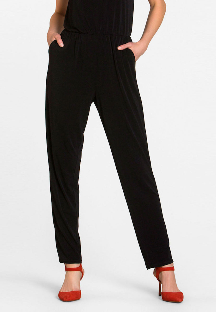 Kennedy Jumpsuit  in Black Crepe Knit