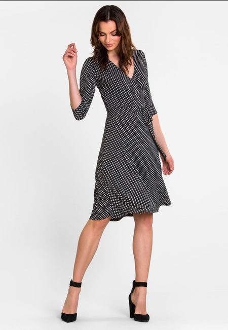 Perfect Wrap Dress in Garden Gate Black