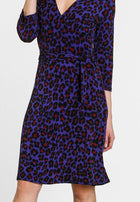 Perfect Wrap Dress in Wild Cat Orient Blue