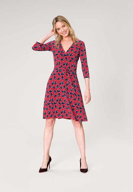 Perfect Wrap Dress in Westport Geo