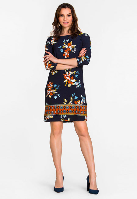 Amora Shift Dress in Santa Barbara Floral Blue