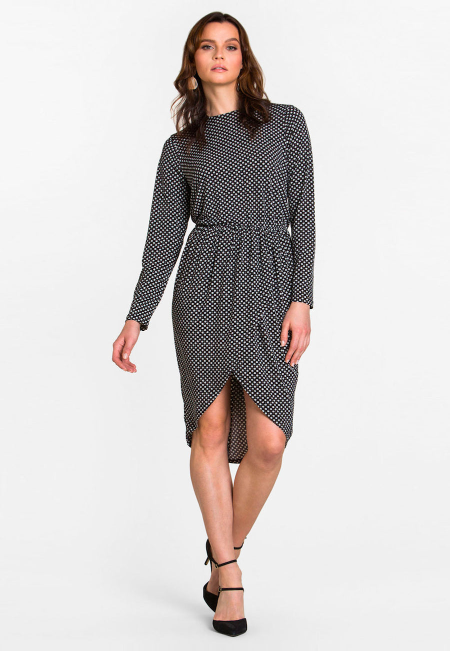 Long Sleeve Angelina Dress in Garden Gate