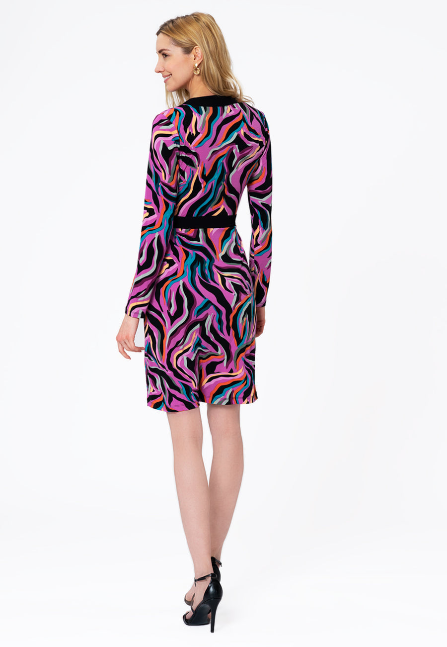 Leota Kara Dress in Vivacity Willowherb Back