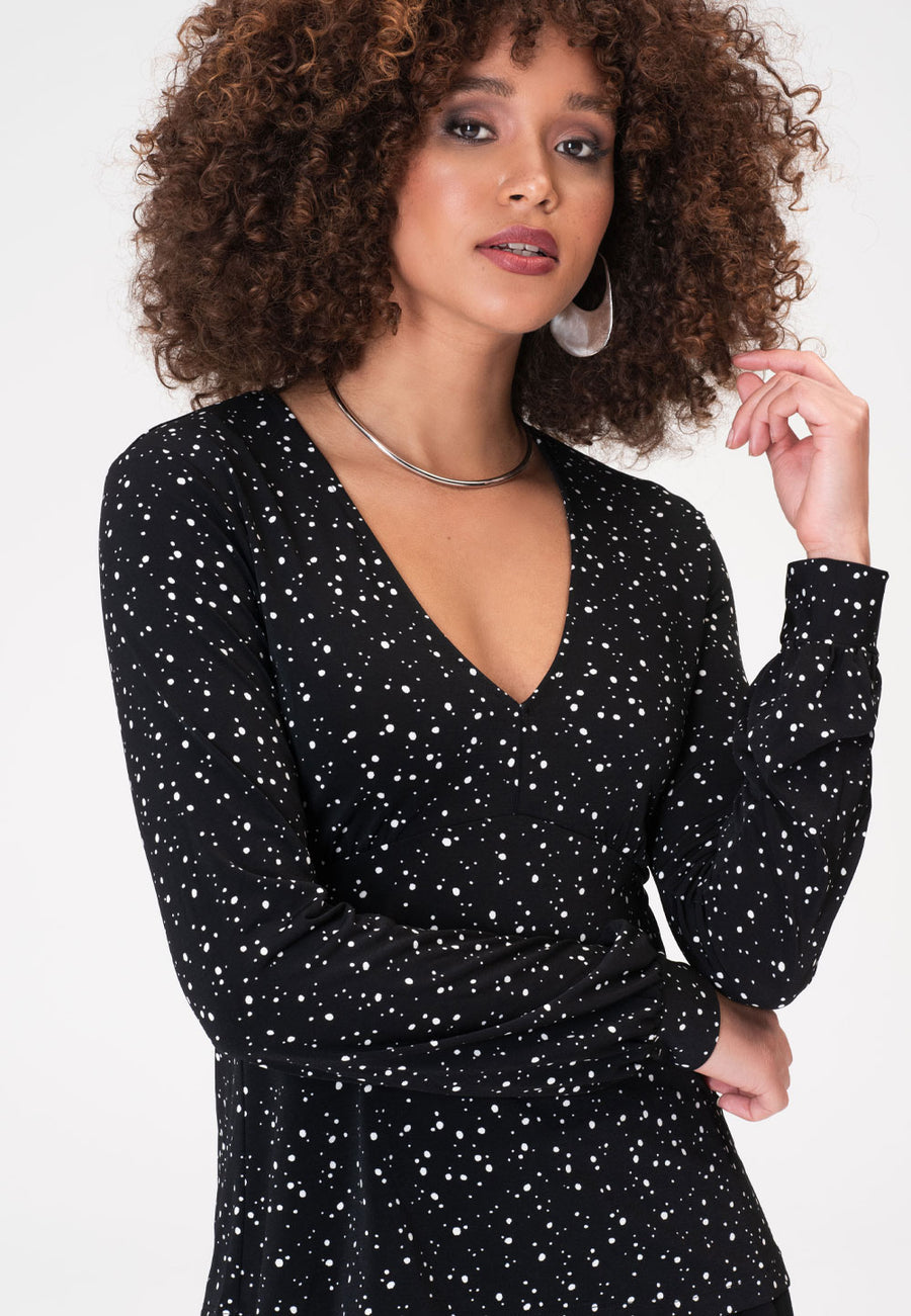 Aubree Tunic in Starry Night Black