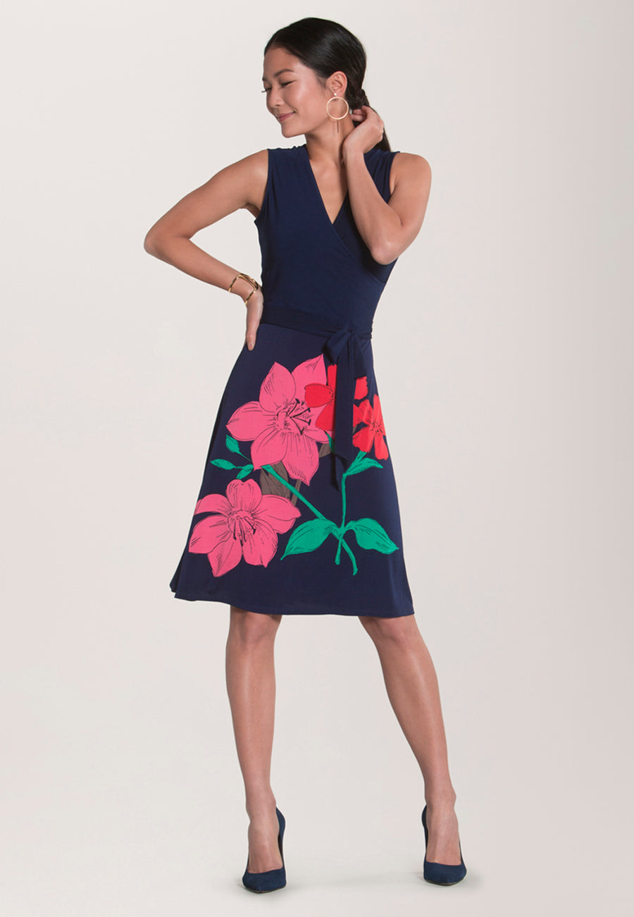 Sleeveless Perfect Wrap in Island Floral