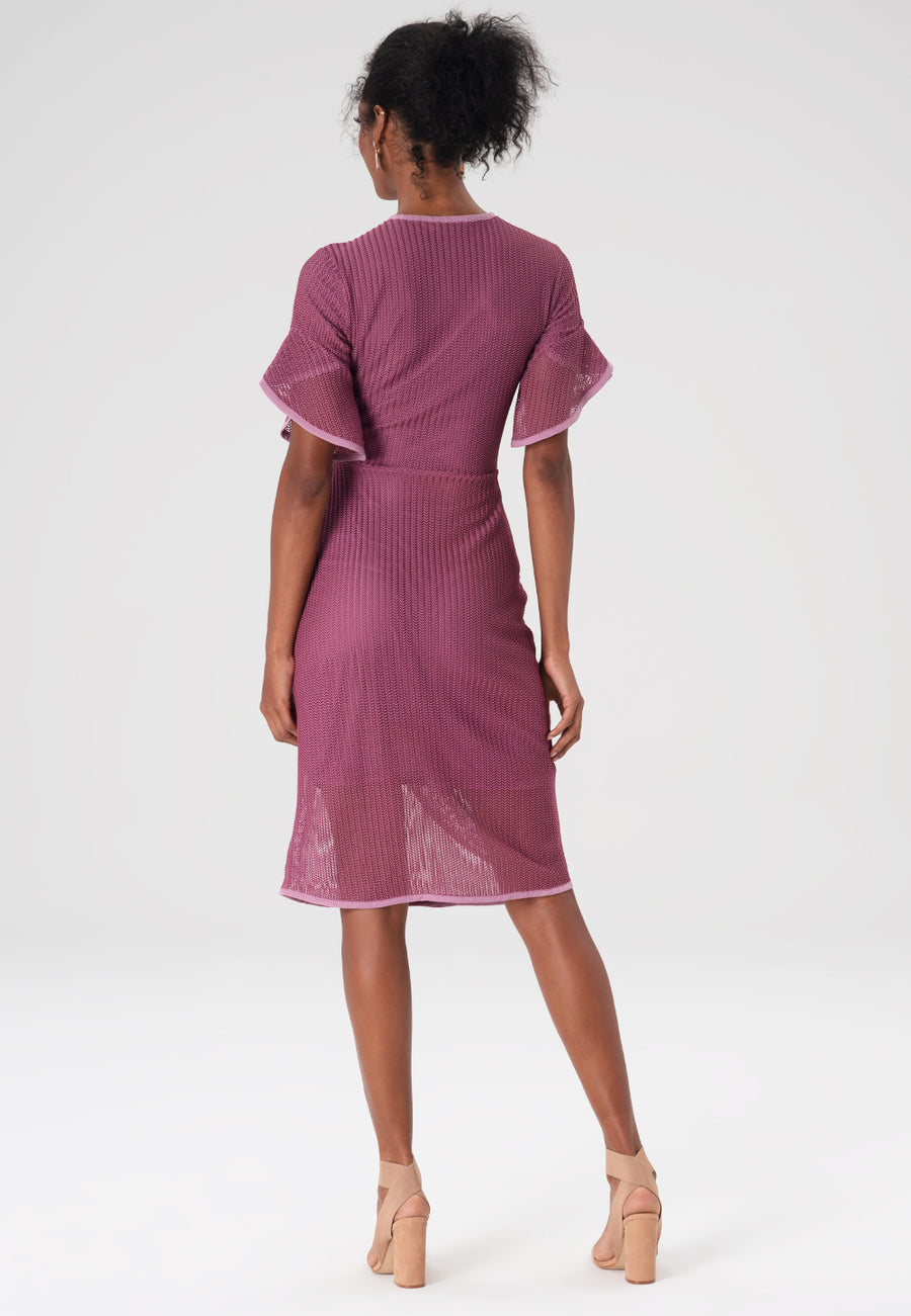 Paige Dress in Hawthorne Rose back