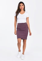 Leota Tracy Skirt in Fig Rose