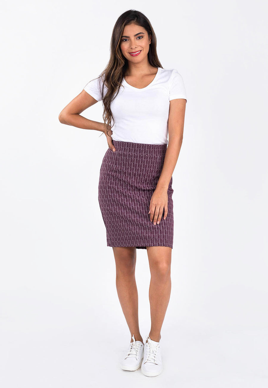 Leota Tracy Skirt in Fig Rose image 2