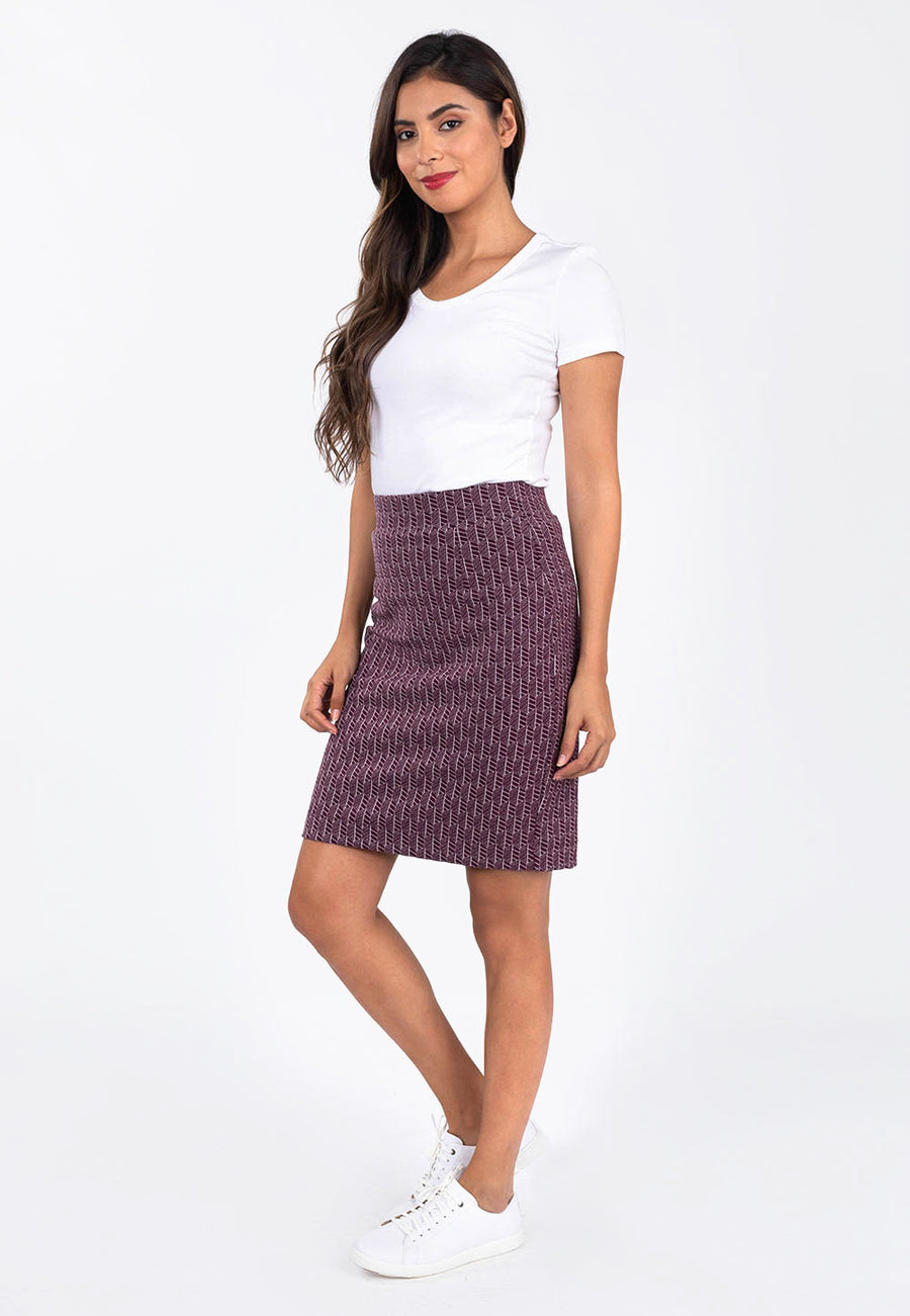Leota Tracy Skirt in Fig Rose side