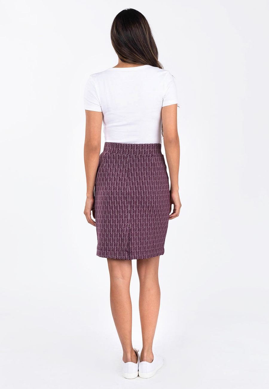 Leota Tracy Skirt in Fig Rose back