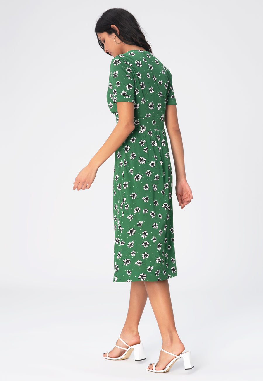 Leota Francesca Dress in Flowers and Dots Amazon