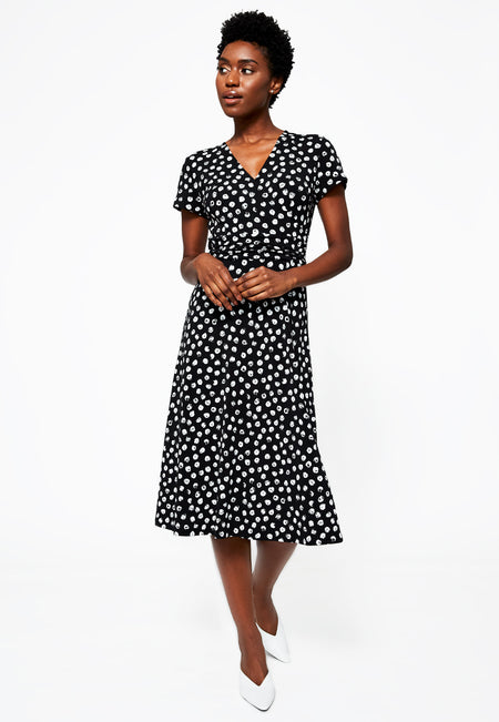 Amiya Dress in Appaloosa Black