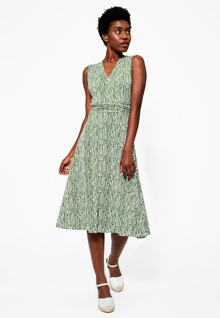 Cindy Dress in Garden Green