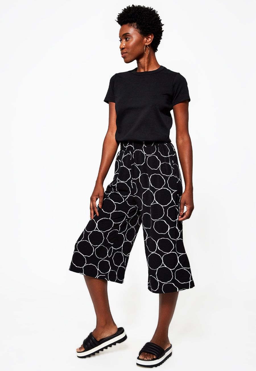 Lexi Culotte Pant in Bubbly Black