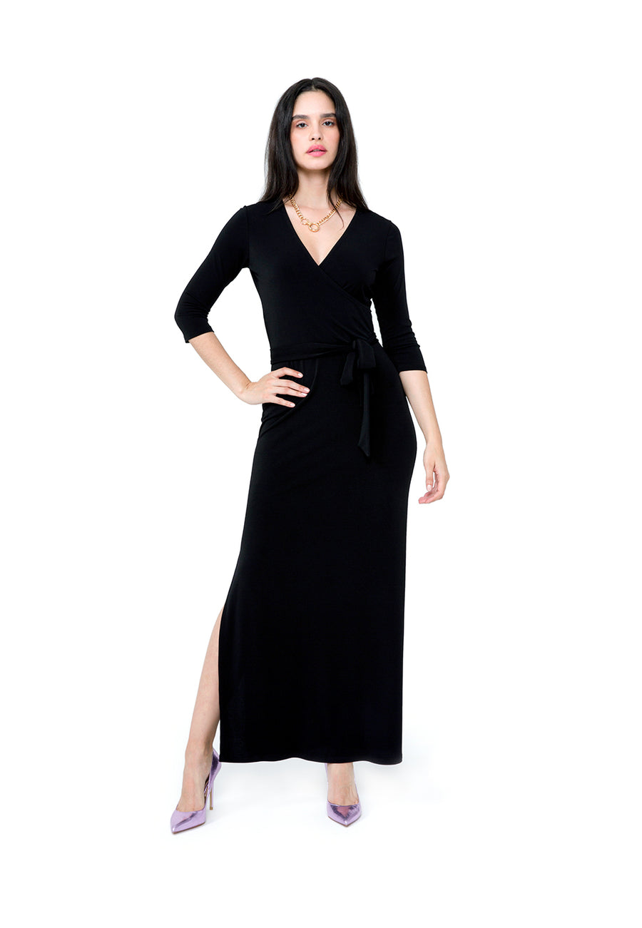 f94a481f5 The Leota Wrap Dress | Perfect Wrap Dress in Black Crepe