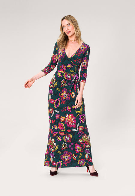 Perfect Wrap Maxi Dress in Tapestry