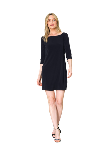 Nouveau Sheath Dress in Black Crepe