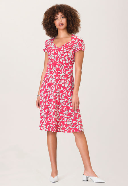 Sweetheart A-Line Dress in Amazonia Floral Pink