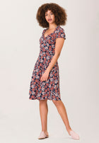 Sweetheart A-Line Dress in Berries Classic Navy Blue