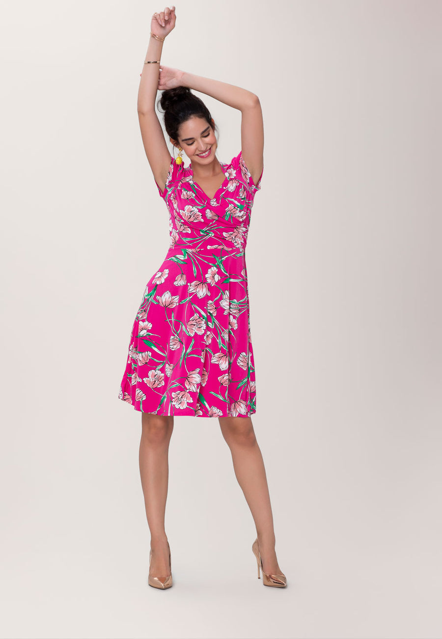 Sweetheart A-Line Dress in Wild Tulip Pink