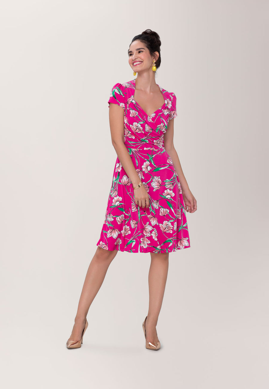 Sweetheart Dress in Wild Tulip