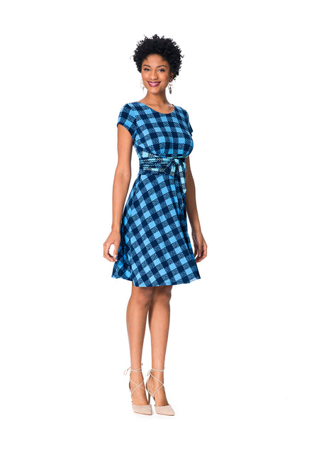 Brittany  A-Line Dress in Check