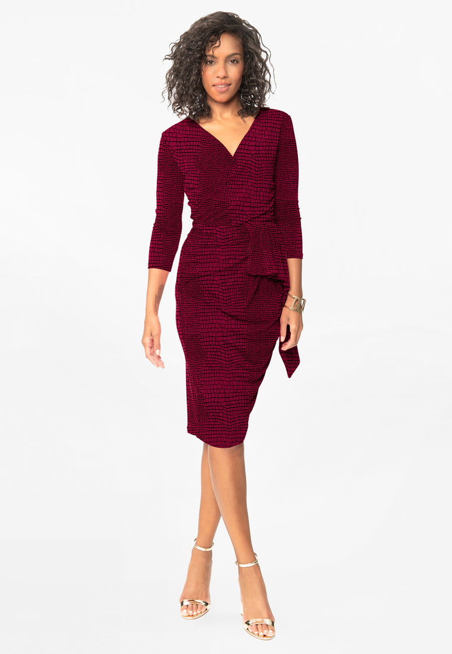 Scarlett Fitted Dress in Crocco Raspberry Radiance Purple