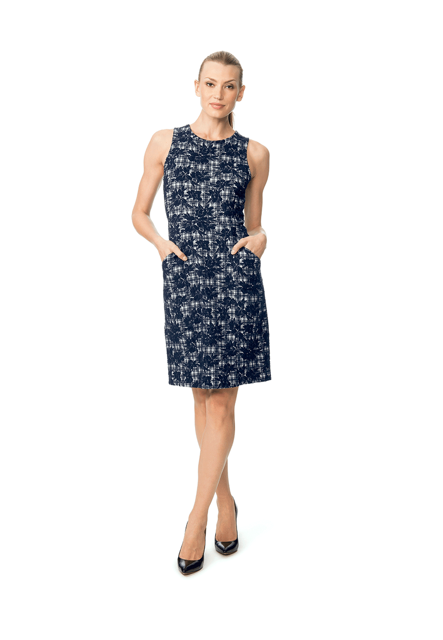 Panel Dress  in Bayside Blue