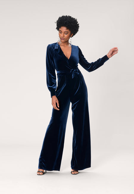 Julie Jumpsuit in Midnight Velvet