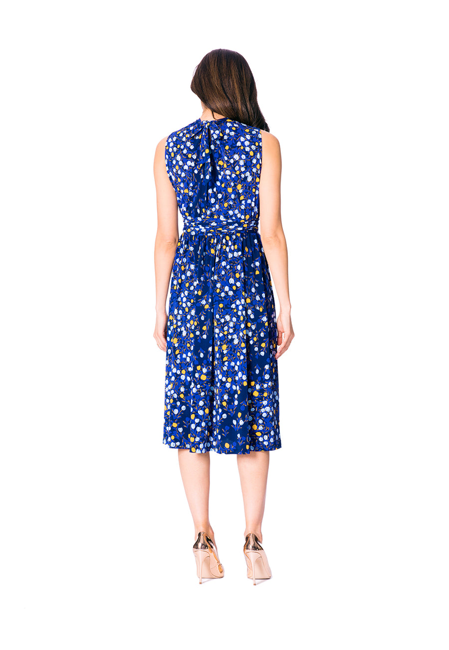 Mindy Shirred Dress in Woodberry