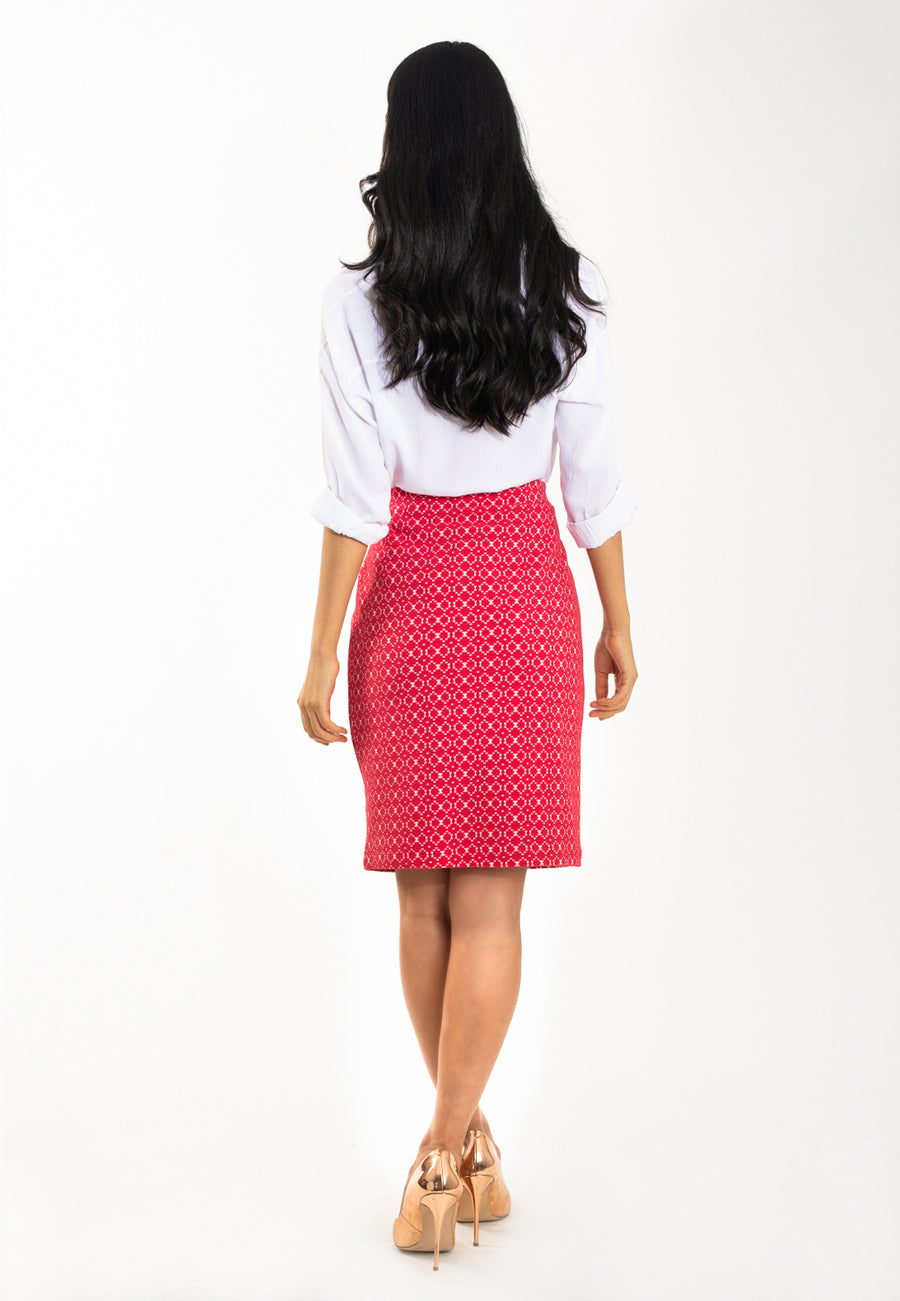 Pencil Skirt in Belissimo Jacquard