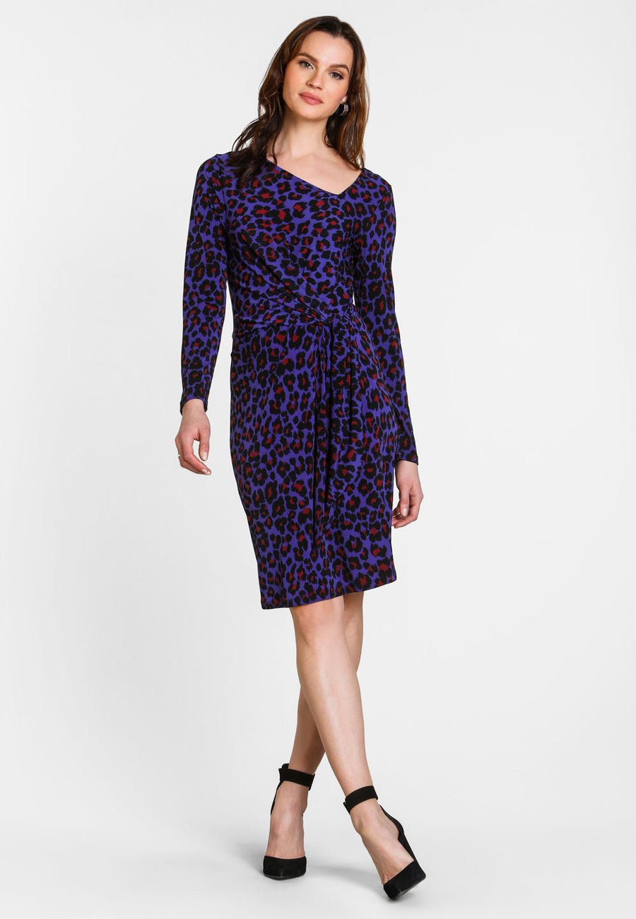 Celeste Dress in Wild Cat Orient Blue