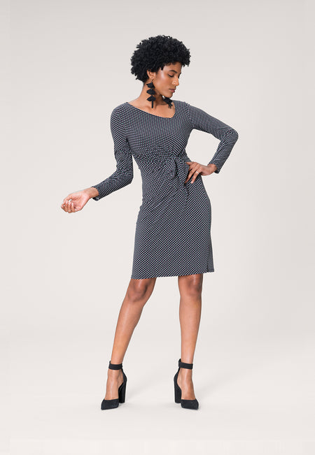 Celeste Dress in Diagonal Dot