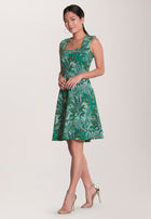 Eve  A-Line Dress in Jungle Green
