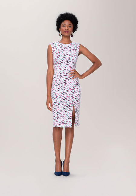 Nora Dress in Twilight Dot Marshmallow Cabaret