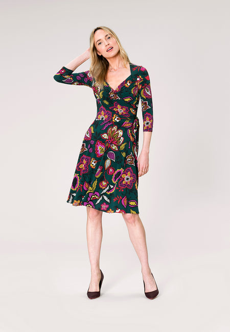 Sweetheart Wrap Dress in Tapestry