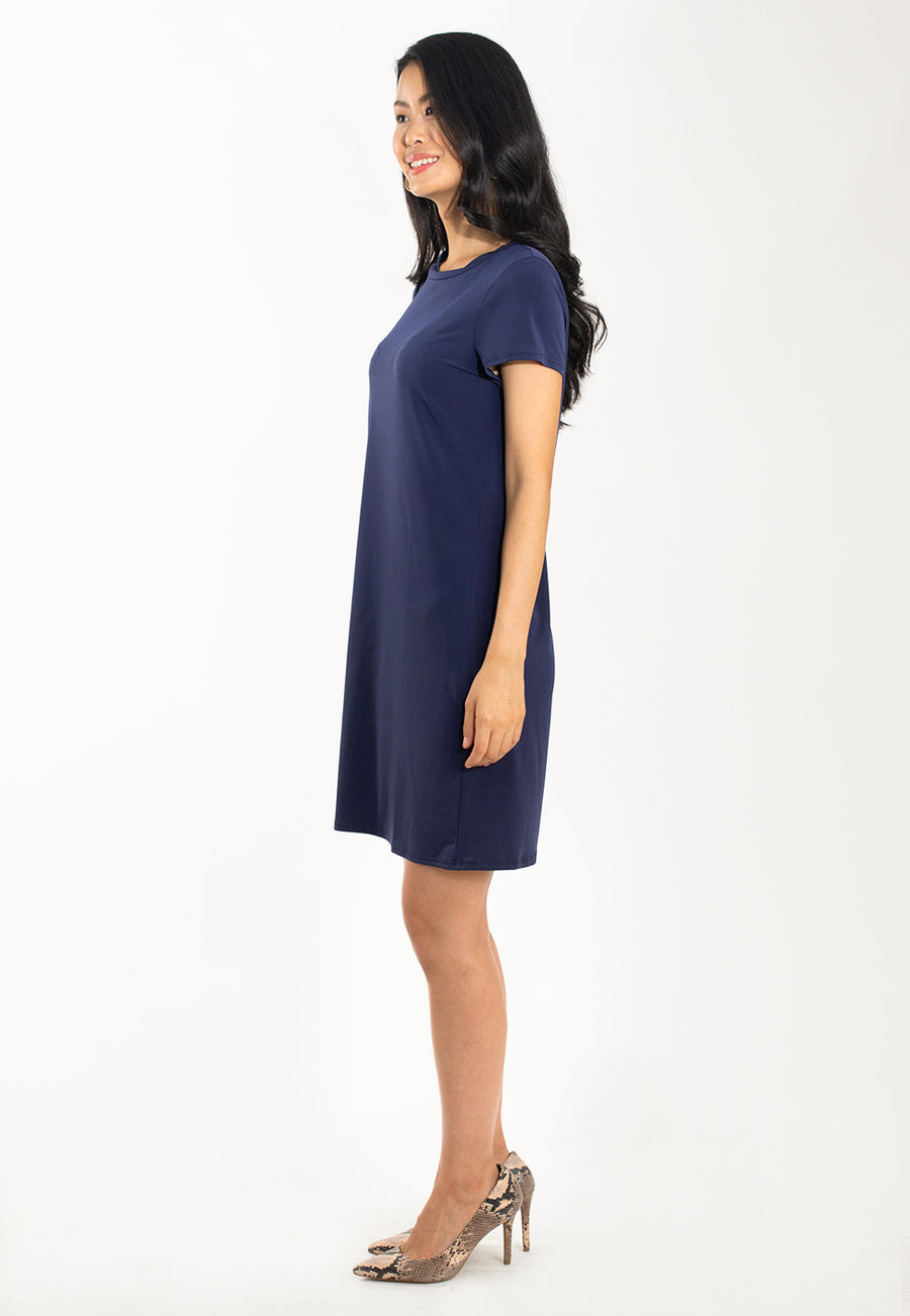 A-Line T-Shirt Dress in Classic Navy