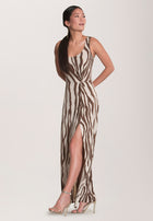 Whitney Tank Maxi in Zebra Stripe