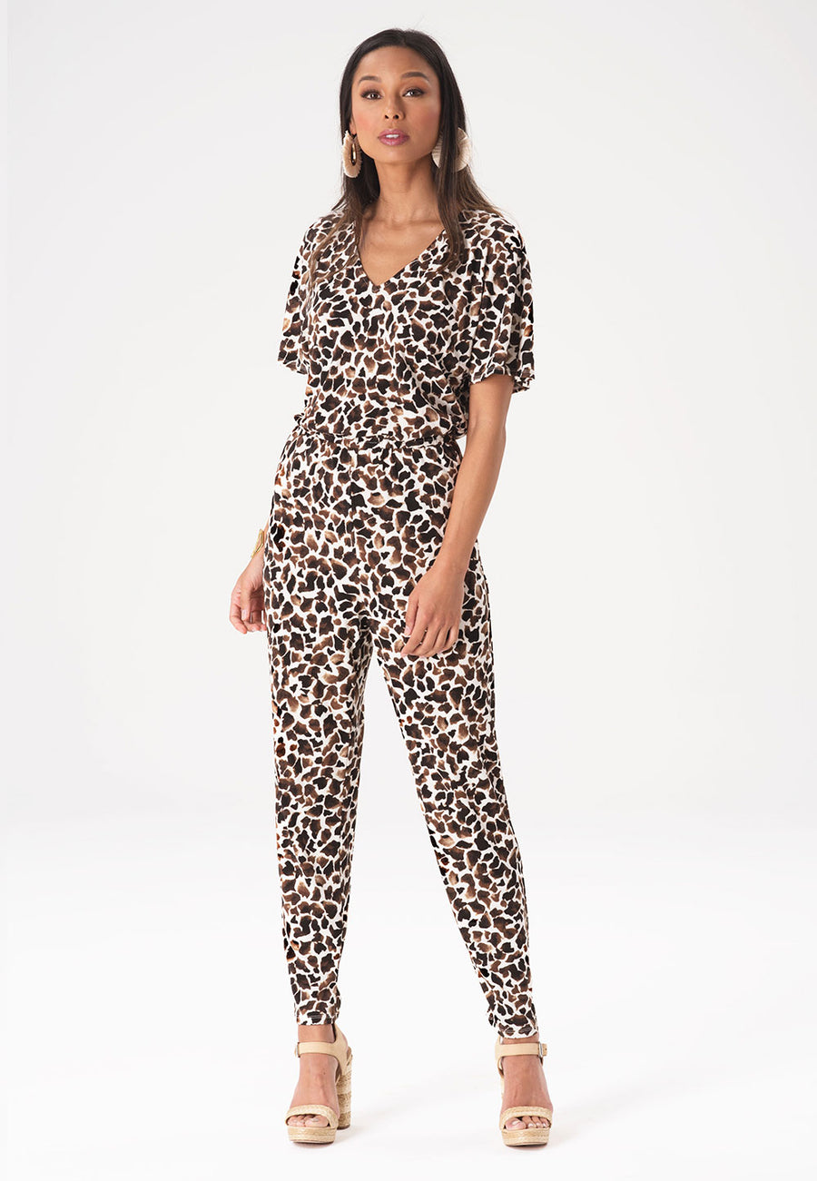 Michaela Jumpsuit in Giraffe